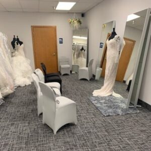 Budget Bridal Outlet   Viewing area